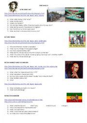 English Worksheet: Bob Marley