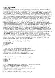 English Worksheet: Toefl Reading Practice Test with Answer Keys