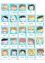 English Worksheet: Guess who faces