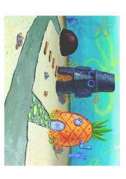 Sponge Bob Preposition Cut Out Activity
