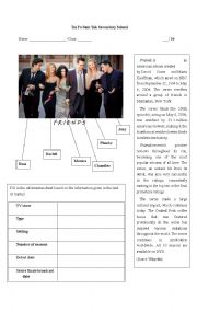 English Worksheet: TV Series Friends
