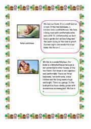 English Worksheet: Descriptions of   Houses. Reading(SET 2)