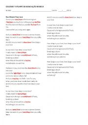 English Worksheet: How deep is your love - Bee Gees