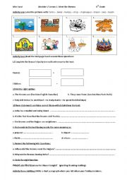 English Worksheet: Module I Lesson 1 Meet the Browns