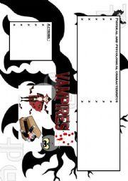 English Worksheet: Brainstorming about Vampires