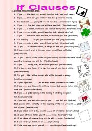 English Worksheet: If clause with superstitions