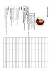 English Worksheet: Article-Famous Person
