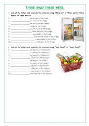 English Worksheet: There was/ there were/ Was there?/ Were there?