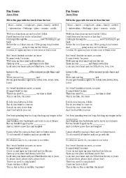 English Worksheet: I´m yours - Jason Mraz