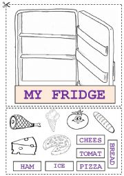 English Worksheet: My fridge