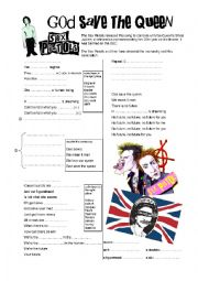 English Worksheet: God save the Queen (Sex Pistols)