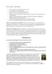English Worksheet: Leonardo da Vinci Fact Sheet