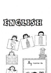 English Worksheet: English Portfolio Cover