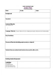 siop lesson template