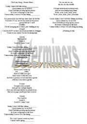 English Worksheet: Lazy Song - Bruno Mars