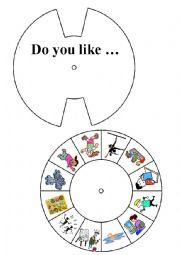 English worksheet: Do you like ... ?