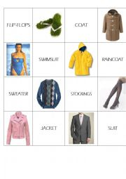 English Worksheet: CLOTHES MEMO GAME 2