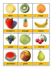 Fruit pictionary