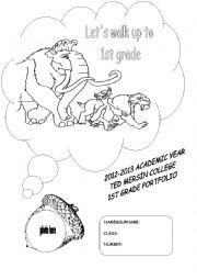 English Worksheet: portfolio cover page
