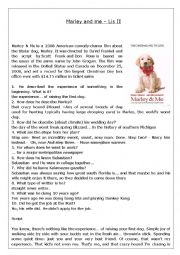 advanced listening movie marley and me