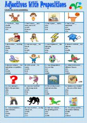 English Worksheet: Adjectives with prepositions