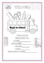 english worksheet welcome back to school