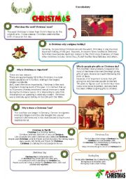 English Worksheet: Christmas Day Vocabulary