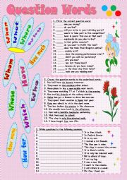 English Worksheet: Question Words