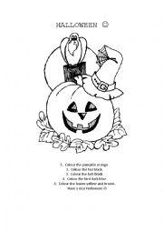 Halloween colouring sheet.