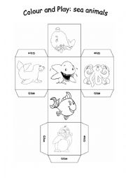 English Worksheet: box sea animals