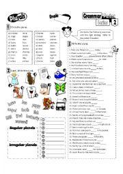 English Worksheet: Grammar Poster Series 02_Plurals (Fully Editable + Key)