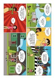 English Worksheet: Comic for Speaking Test Practice