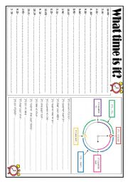 English Worksheet: What time is it? Clock