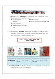 English Worksheet: Punctuation activities