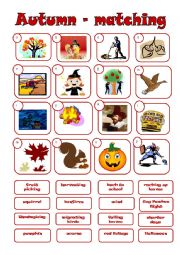 English Worksheet: AUTUMN - matching