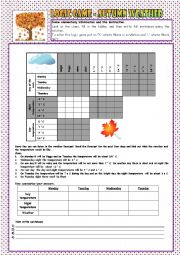English Worksheet: Logic Game 5 - Autumn Weather