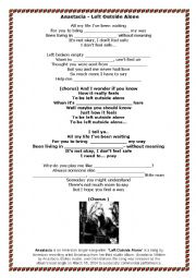 English Worksheet: Present Perfect Continuous - Anastasia song