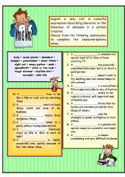 English Worksheet: WHO is WHO ?