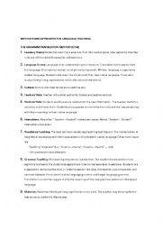 English Worksheet: Methods of language teaching