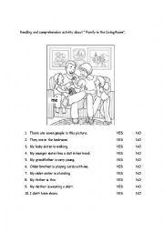 English Worksheet: Reading Activity