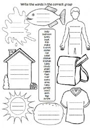 English Worksheet: Revision