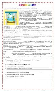 English Worksheet: HOSPITAL WINDOW (MORAL LESSON)