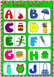 English Worksheet: English Alphabet - dominoes (1)
