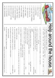 English Worksheet: Home. Daily routines and activities.