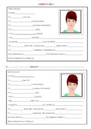 English Worksheet: how to introduce yourself in English