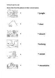 English Worksheet: walking through the jungle worksheet