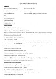 English Worksheet: Useful phrases for writing emails