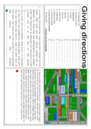 English Worksheet: Giving directions in the city