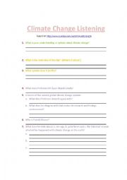 English Worksheet: An Alternative Approach to the Climate Change Debate