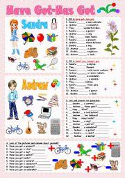 English Worksheet: Have got-Has got